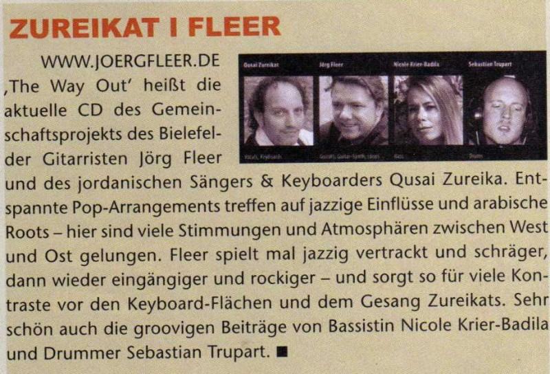 gitarre und bass juli 06 zur cd the way out