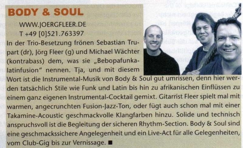 gitarre und bass aug 04 zur cd body und soul